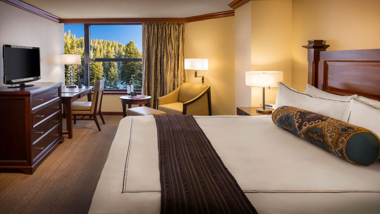 1 King Bed with Forest View