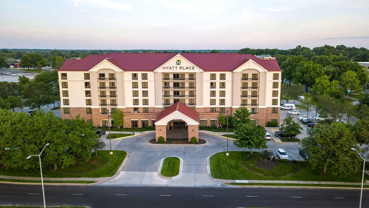 Hotel Aerial Exterior Dawn