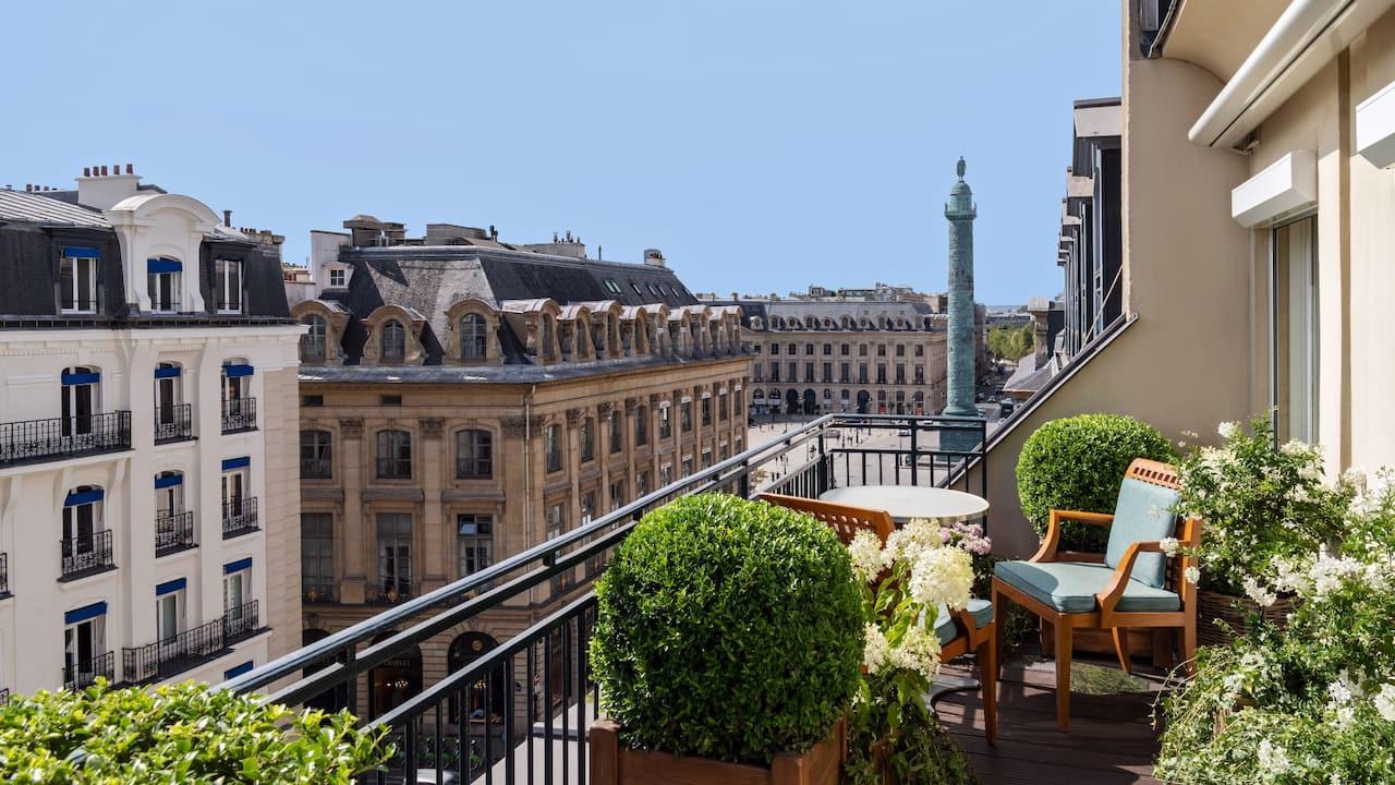 Hôtel Park Hyatt Paris-Vendôme - Balcon avec vue sur Place Vendôme