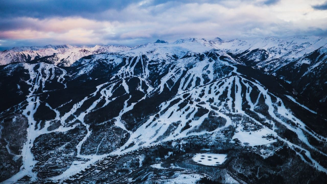 Aerial View of Snowmass Village