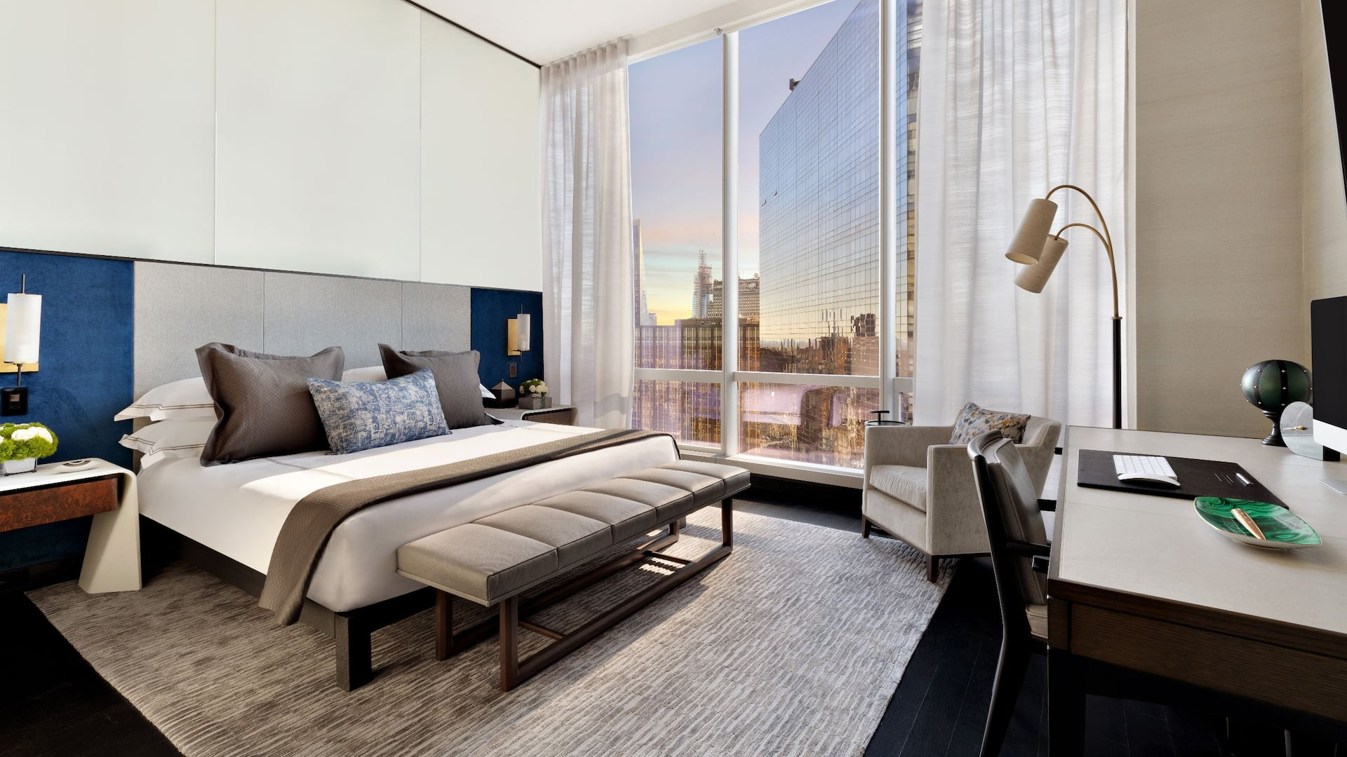 Manhattan Sky Suite Guest Bedroom