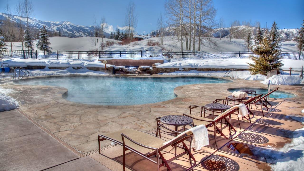 Villas at Snowmass Club, pool in winter