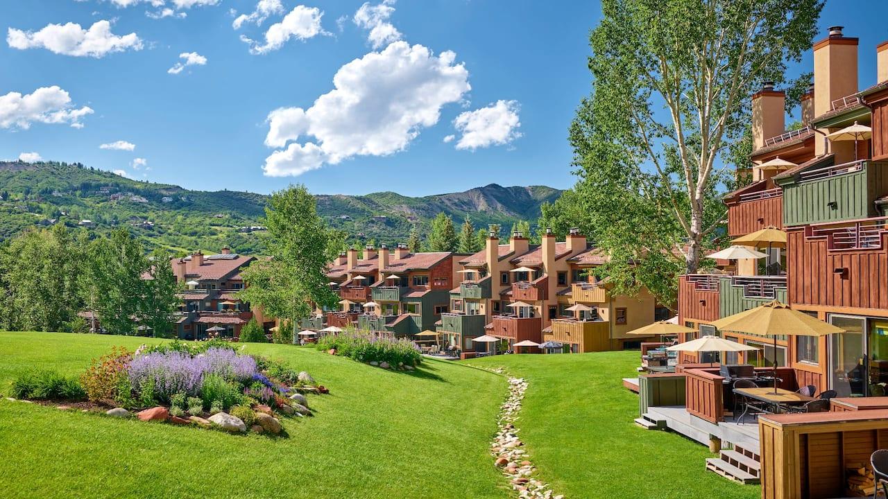 Villas at Snowmass Club, exterior summer
