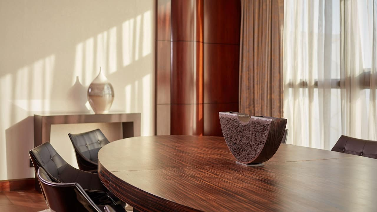presidential suite dining grand hyatt abu dhabi hotel