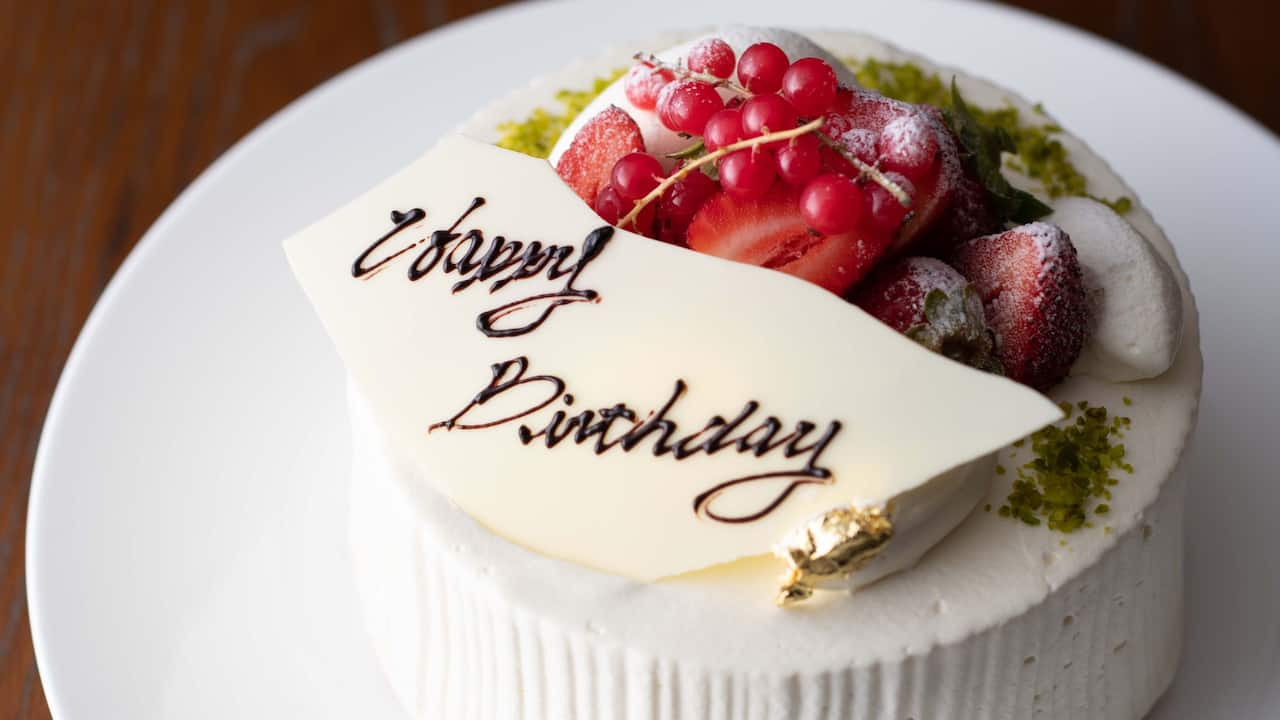Hyatt Regency Hakone Resort & Spa| Anniversary Plan Cake