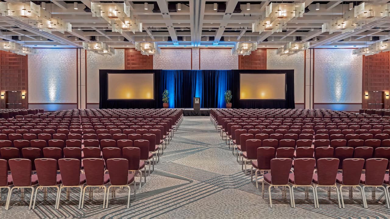 A newly renovated large ballroom theatre at Hyatt Regency Indian Wells Resort & Spa