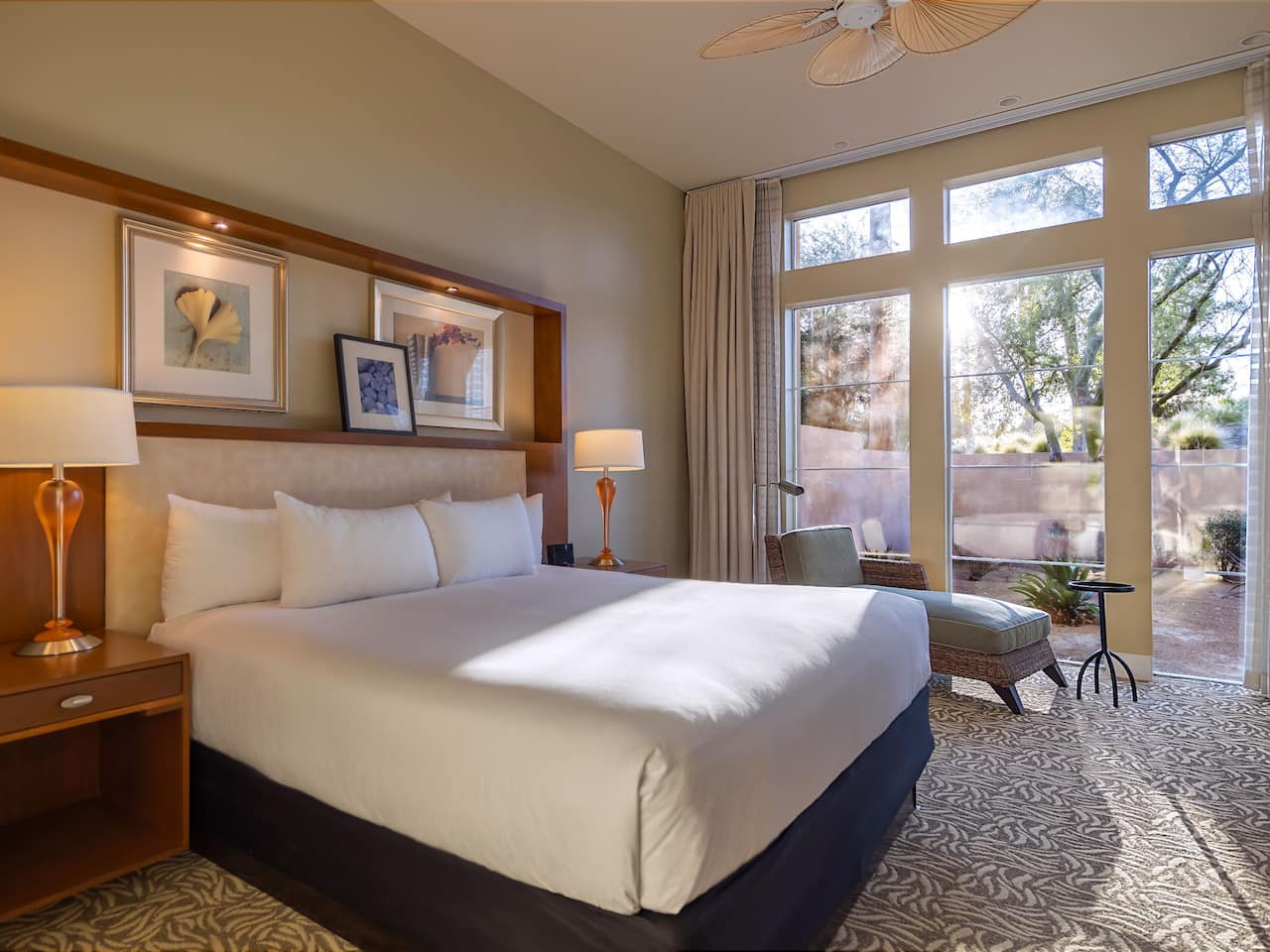 A brightly lit villa bedroom at Hyatt Regency Indian Wells Resort & Spa
