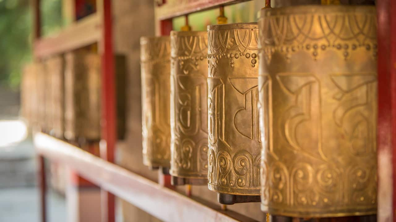 Tibetan Prayer Wheel - Hyatt Regency Dharamshala Resort