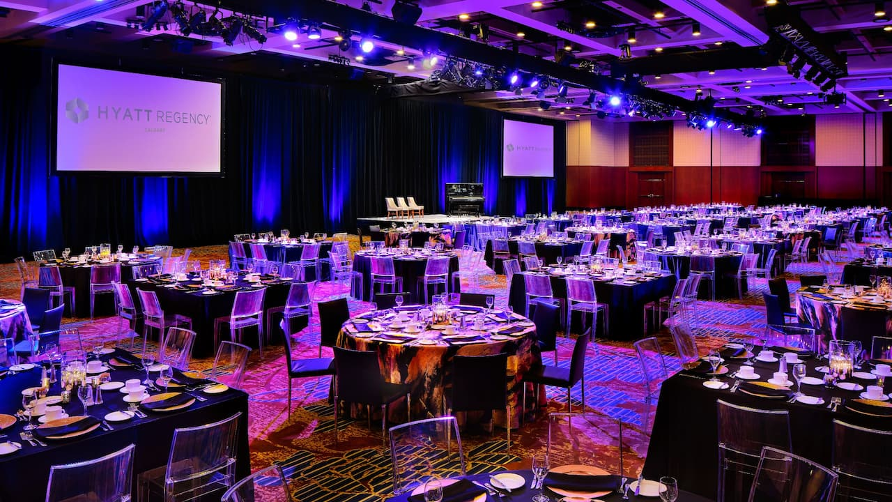 Hyatt Regency Calgary Imperial Ballroom Gala Mood Lighting