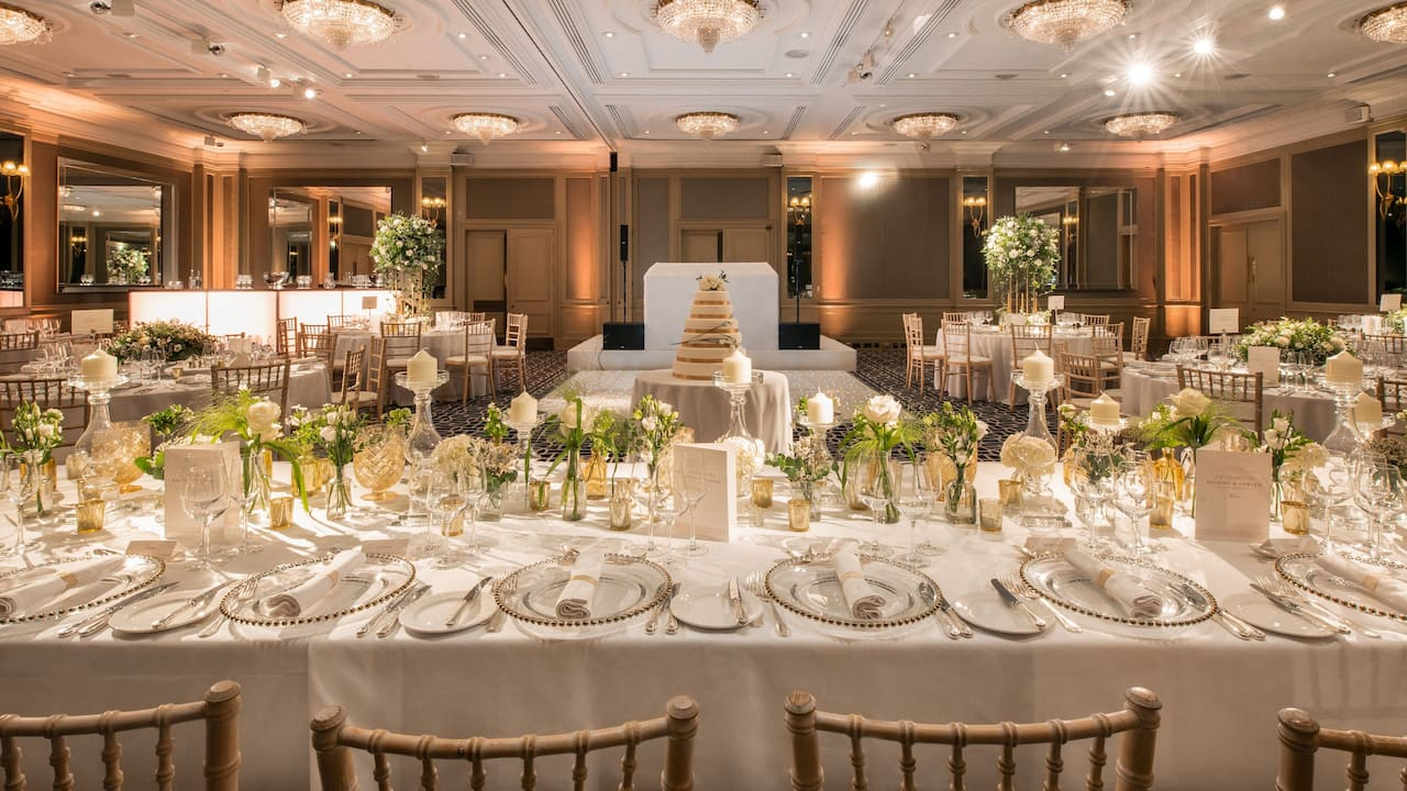 Wedding Reception in London | Hyatt Regency London - The Churchill