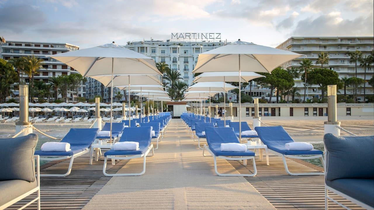 Reservation transats à cannes hotel martinez