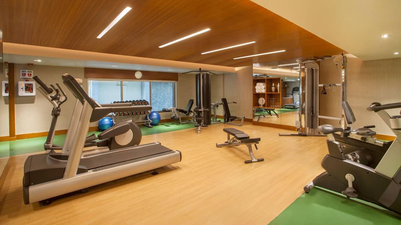 Fitness centre at Hyatt Place Hyderabad