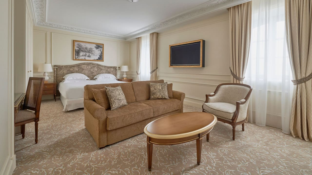 Junior suite ocean view by Hotel du Palais in the Unbound Collection by Hyatt