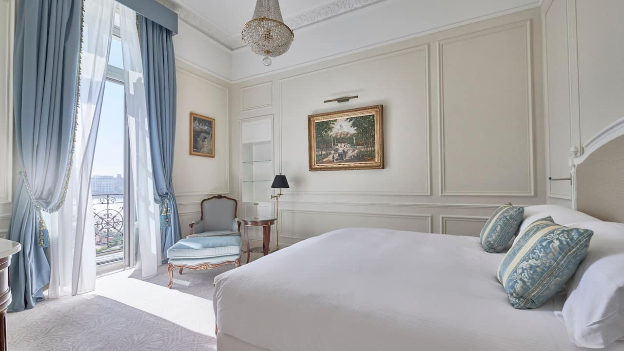 Ambassador Suite Bedroom at Hotel du Palais in the Unbound Collection by Hyatt