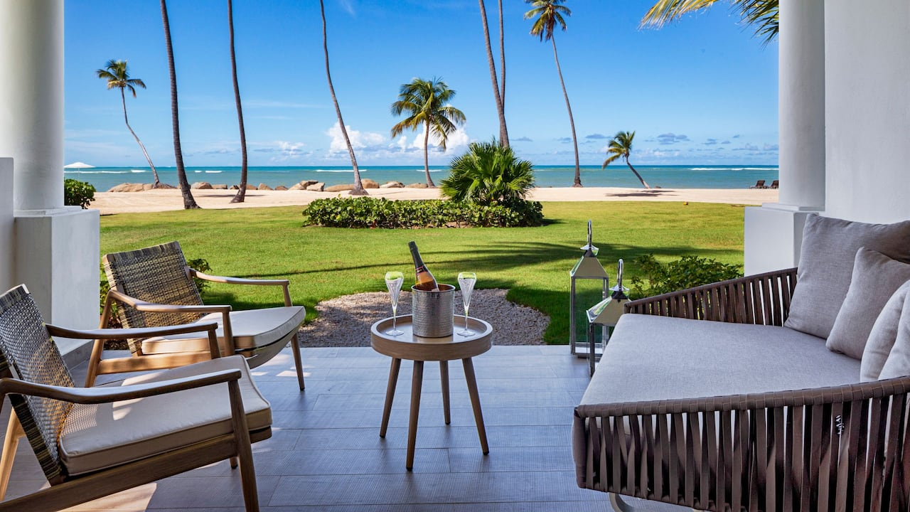 Beachside patio