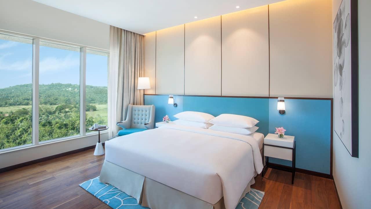 Guest room at Hyatt Regency Thrissur