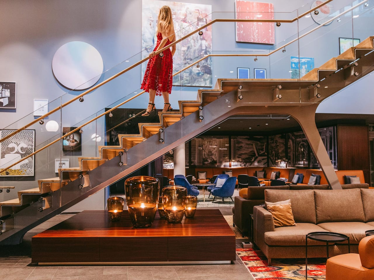 Lobby Lounge with staircase