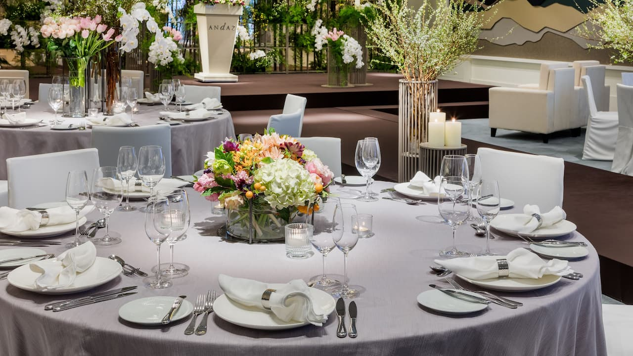 Andaz Seoul Gangnam - Wedding Table