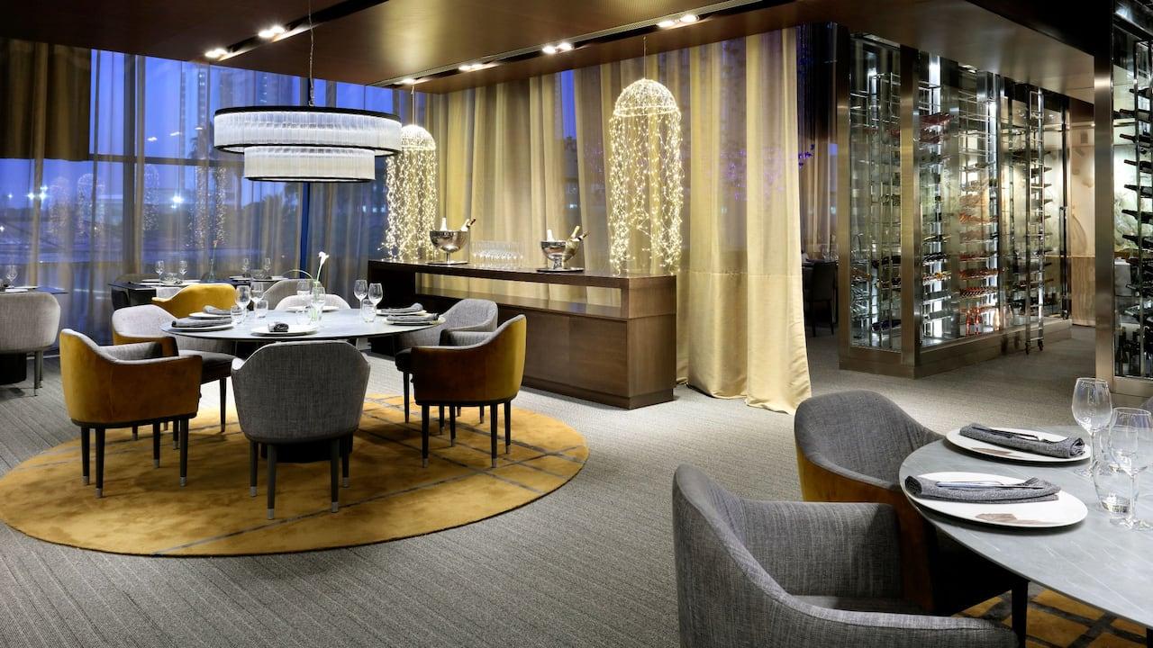 Hyatt Regency Barcelona Tower Restaurant Seating