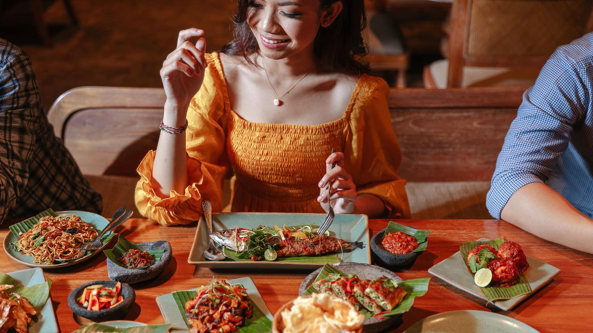 Dinner at Omang Omang Restaurant Sanur Bali