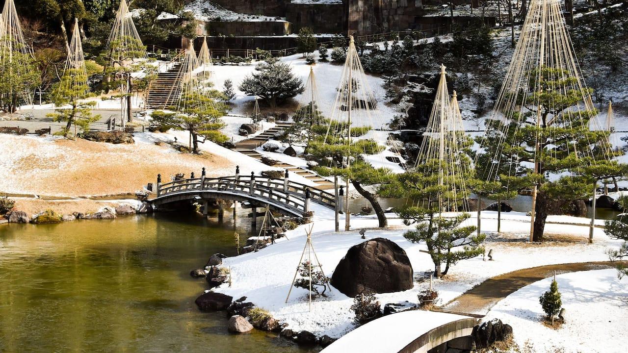 Kenrokuen Snow