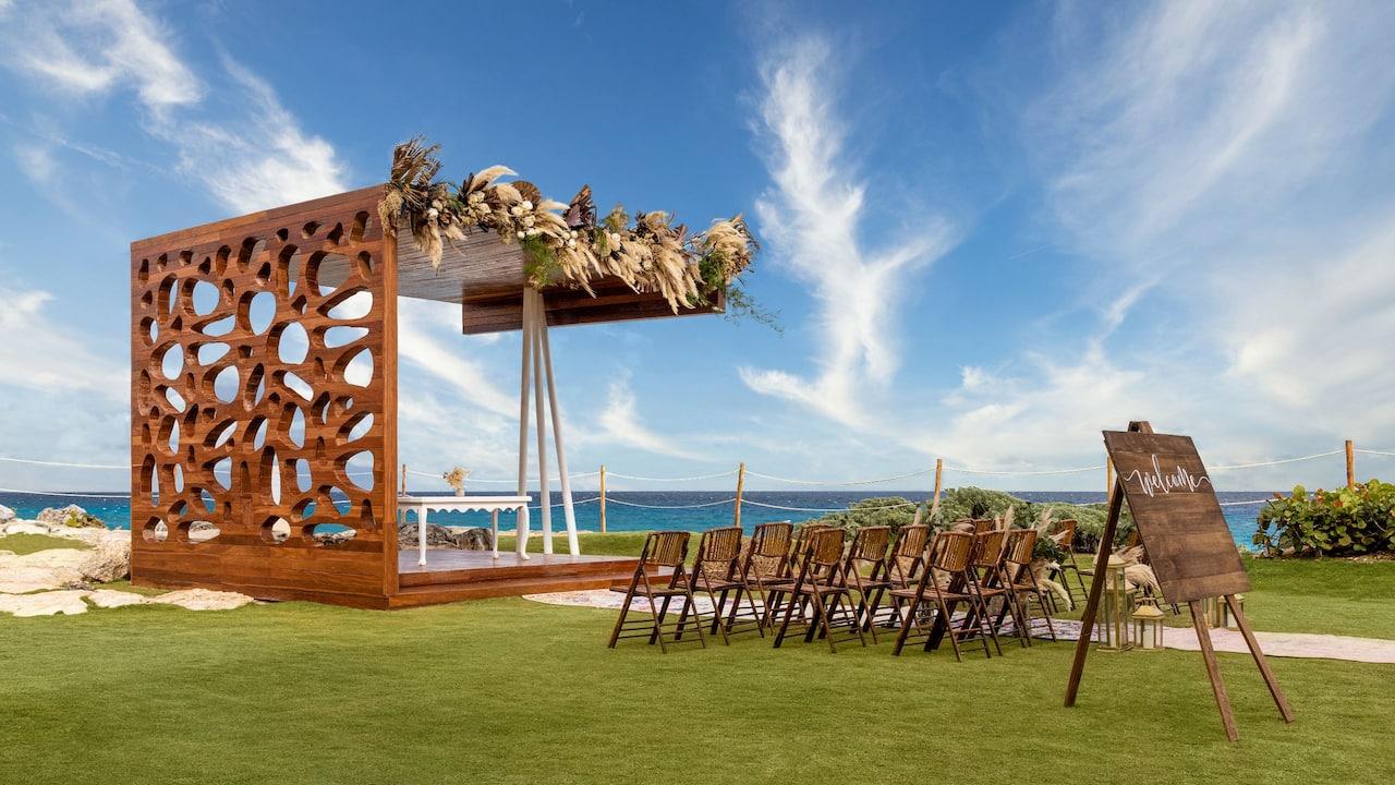 Outdoor Wedding at Hyatt Ziva Riviera Cancun