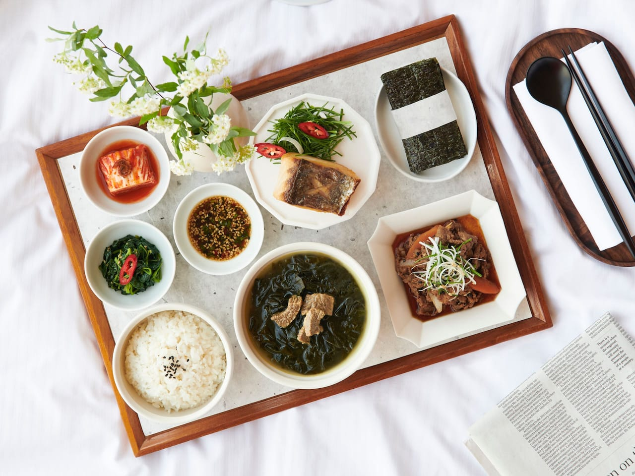 24Hrs Room Service: Korean Cuisine, Italian Dishes, Drinks & Teas