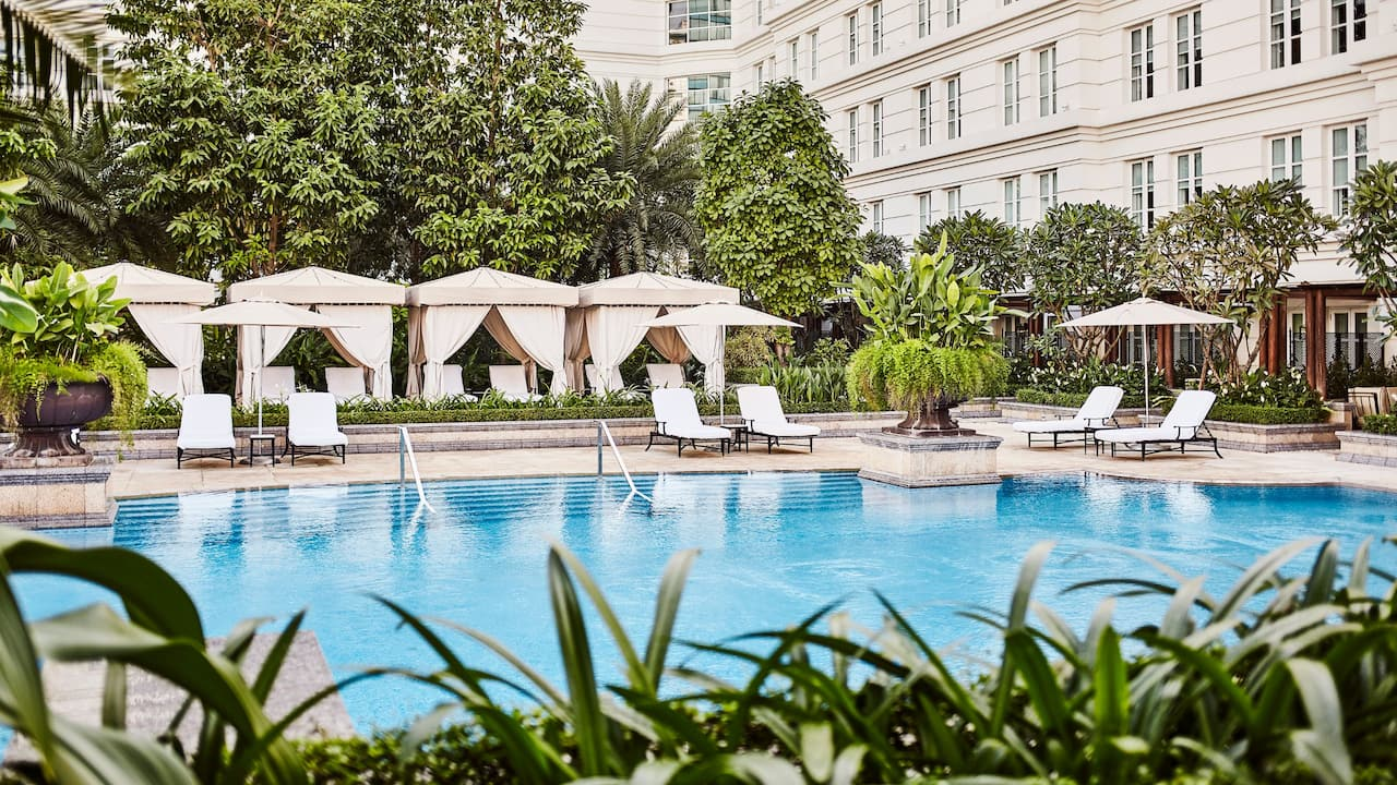 Hotel Swimming Pool at the Park Hyatt Ho Chi Minh City, Vietnam
