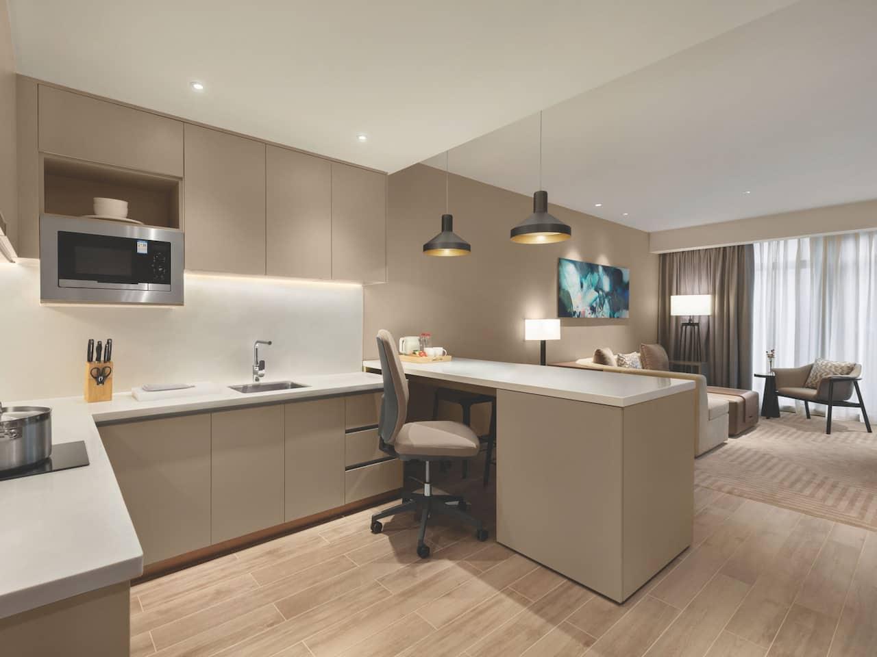 Kitchen Studio King Bed w Sofa Bed