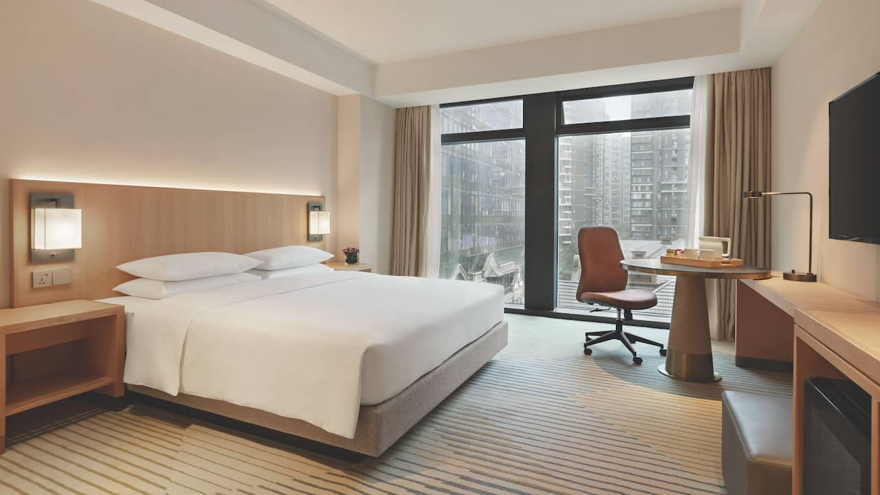 King Bed with Sofa Bed at Hyatt Place Chengdu Pebble Walk