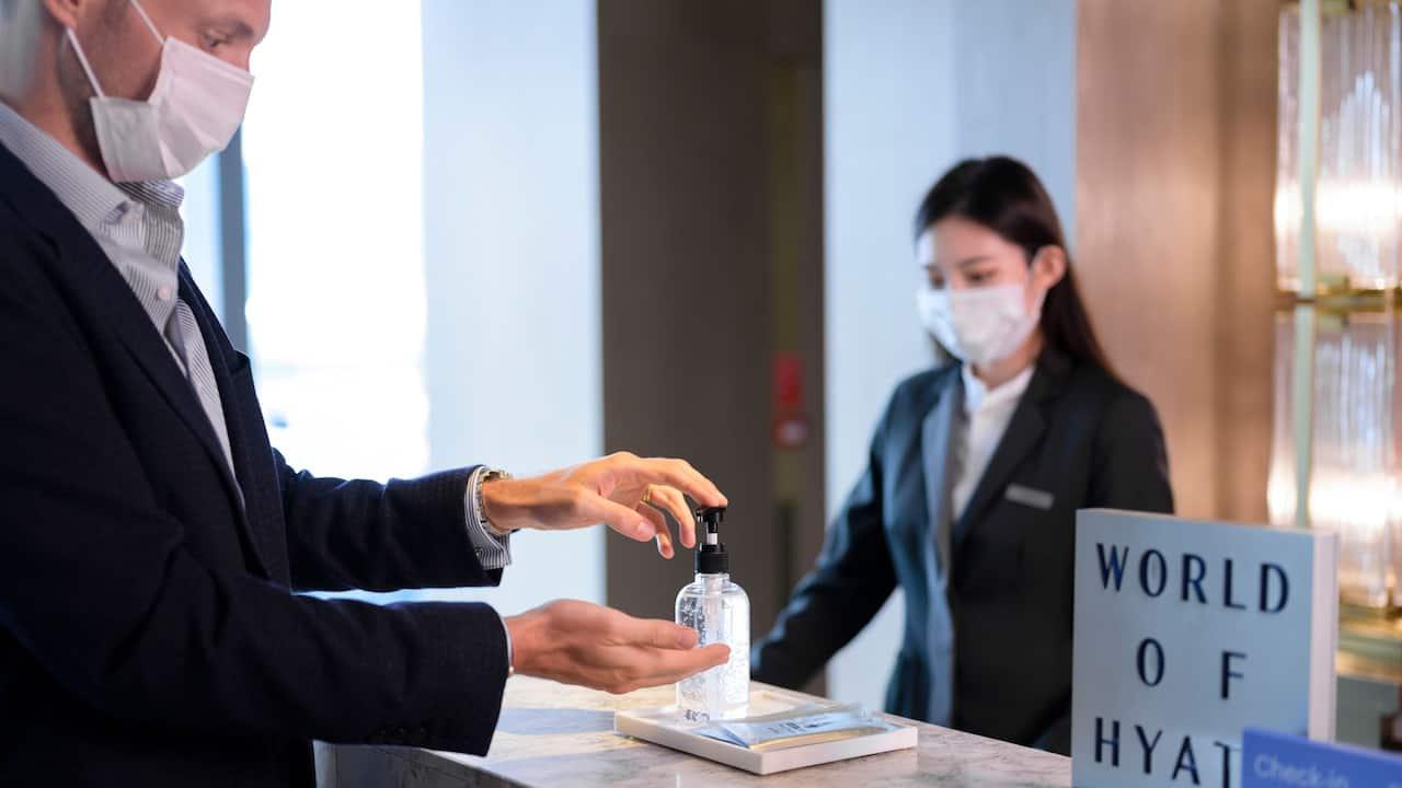 Sanitize Hotel Room & Check-in Procedure at Grand Hyatt Bali