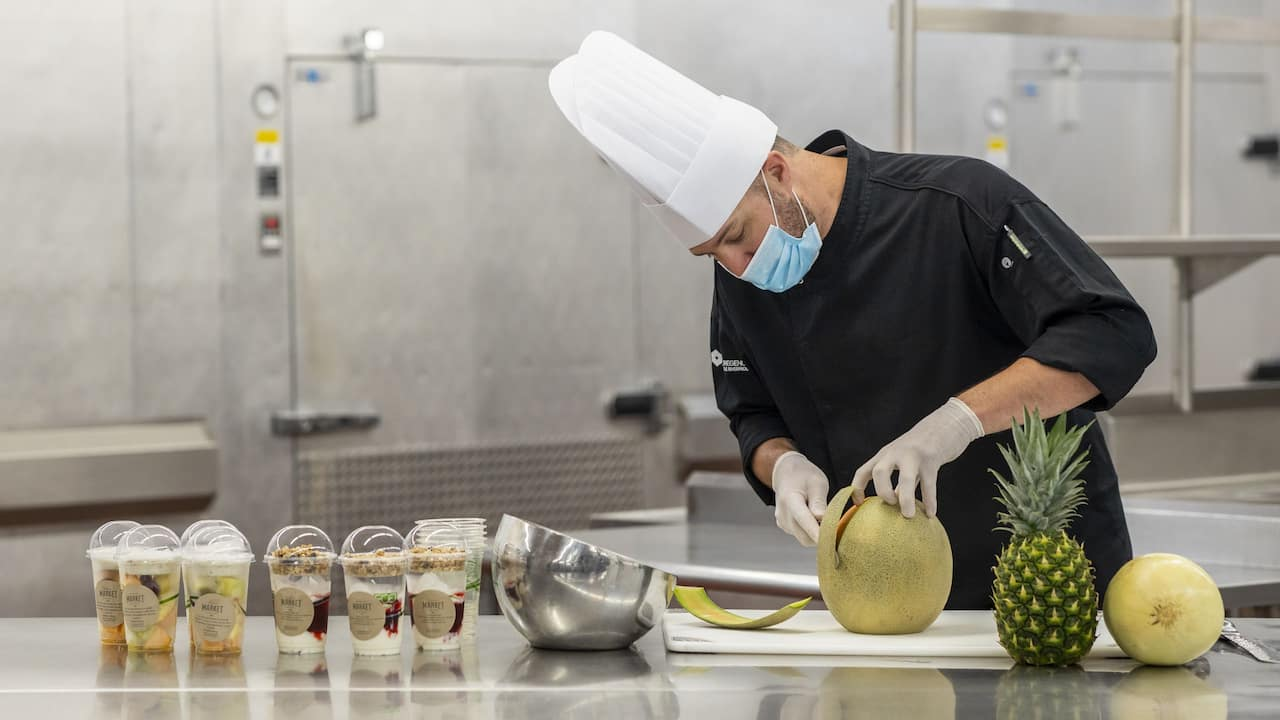Chef with Gloves and Mask