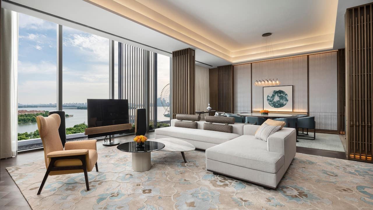 Presidential Suite Living Room at Park Hyatt Suzhou