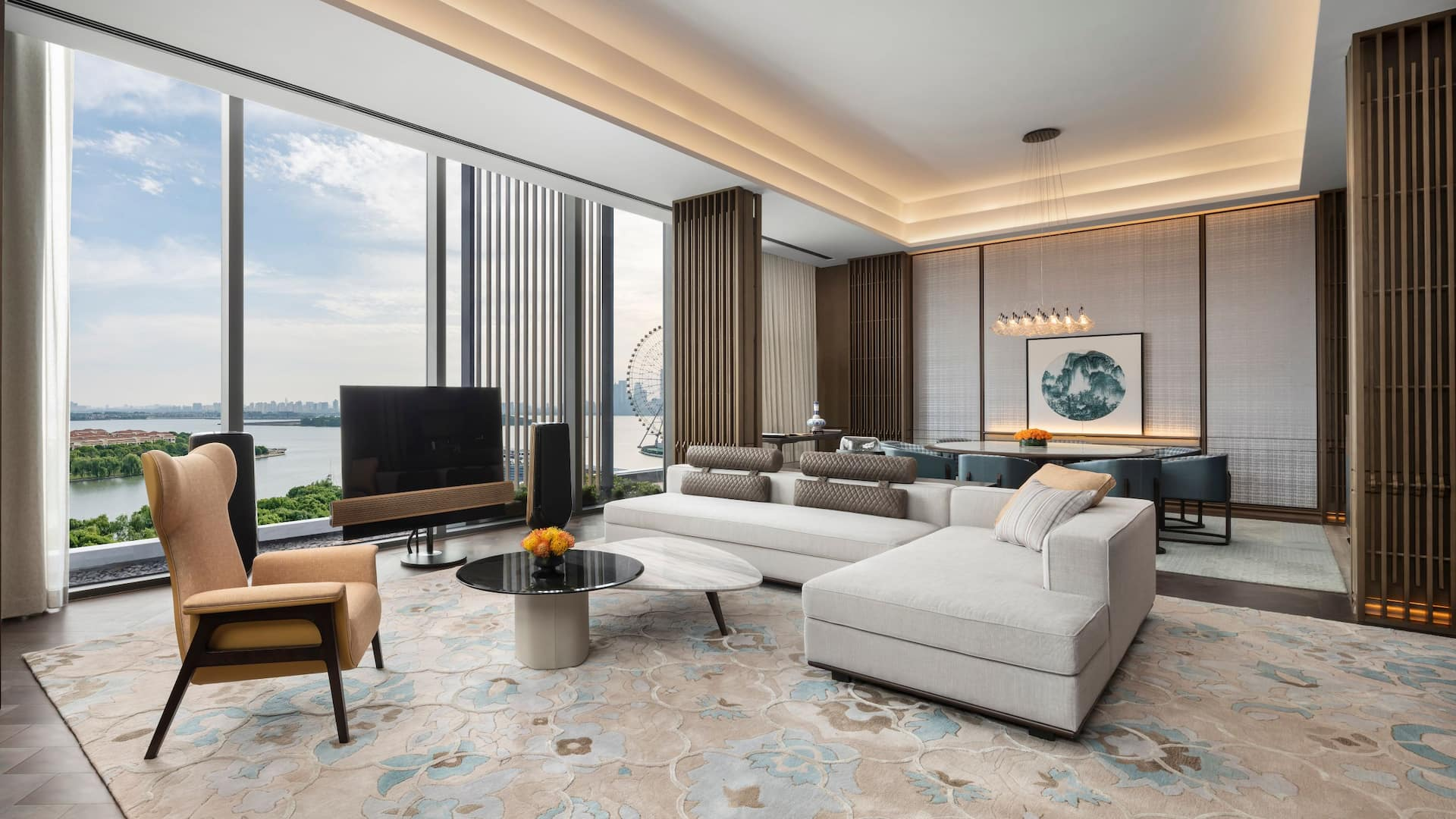 Presidential Suite Living Room at Park Hyatt Suzhou