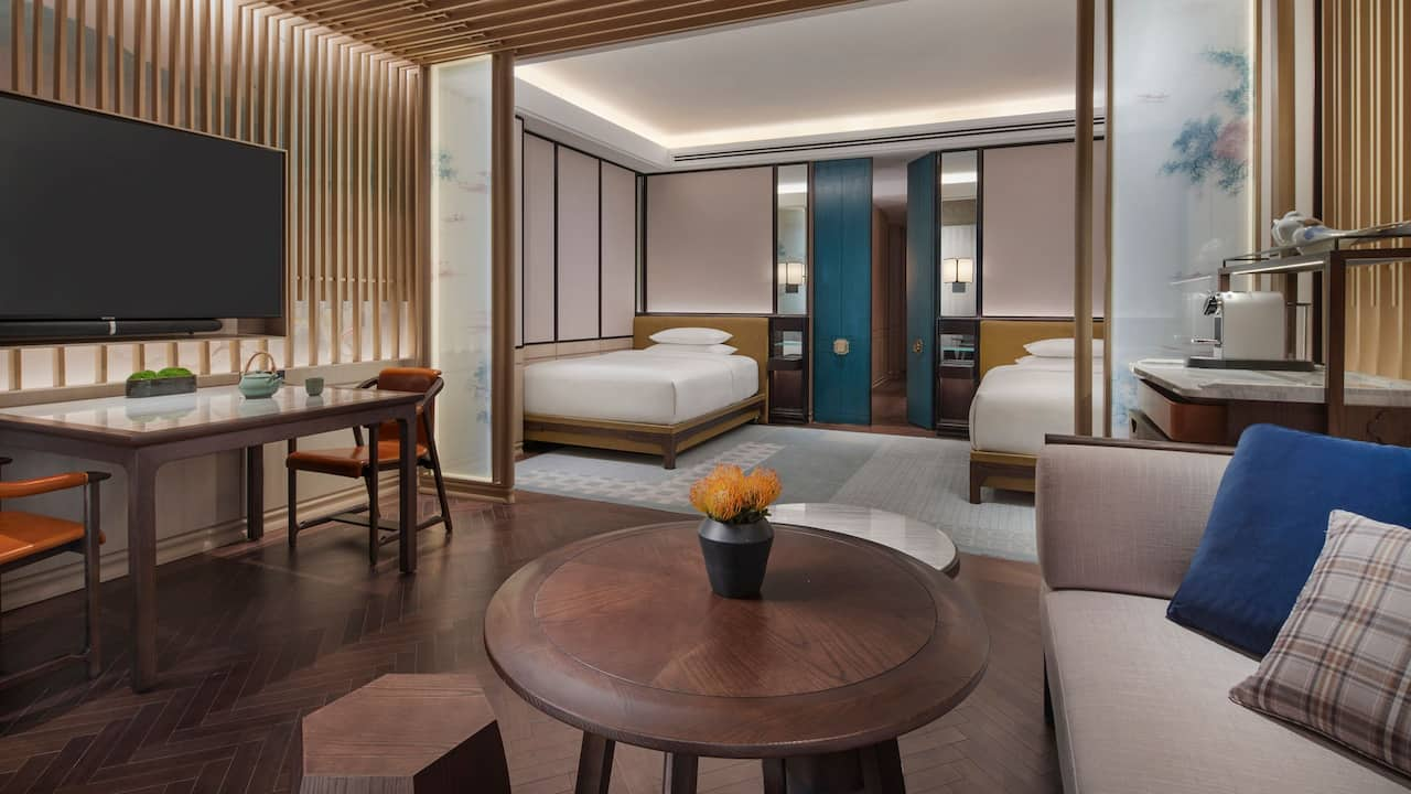 Twin Room at Park Hyatt Suzhou