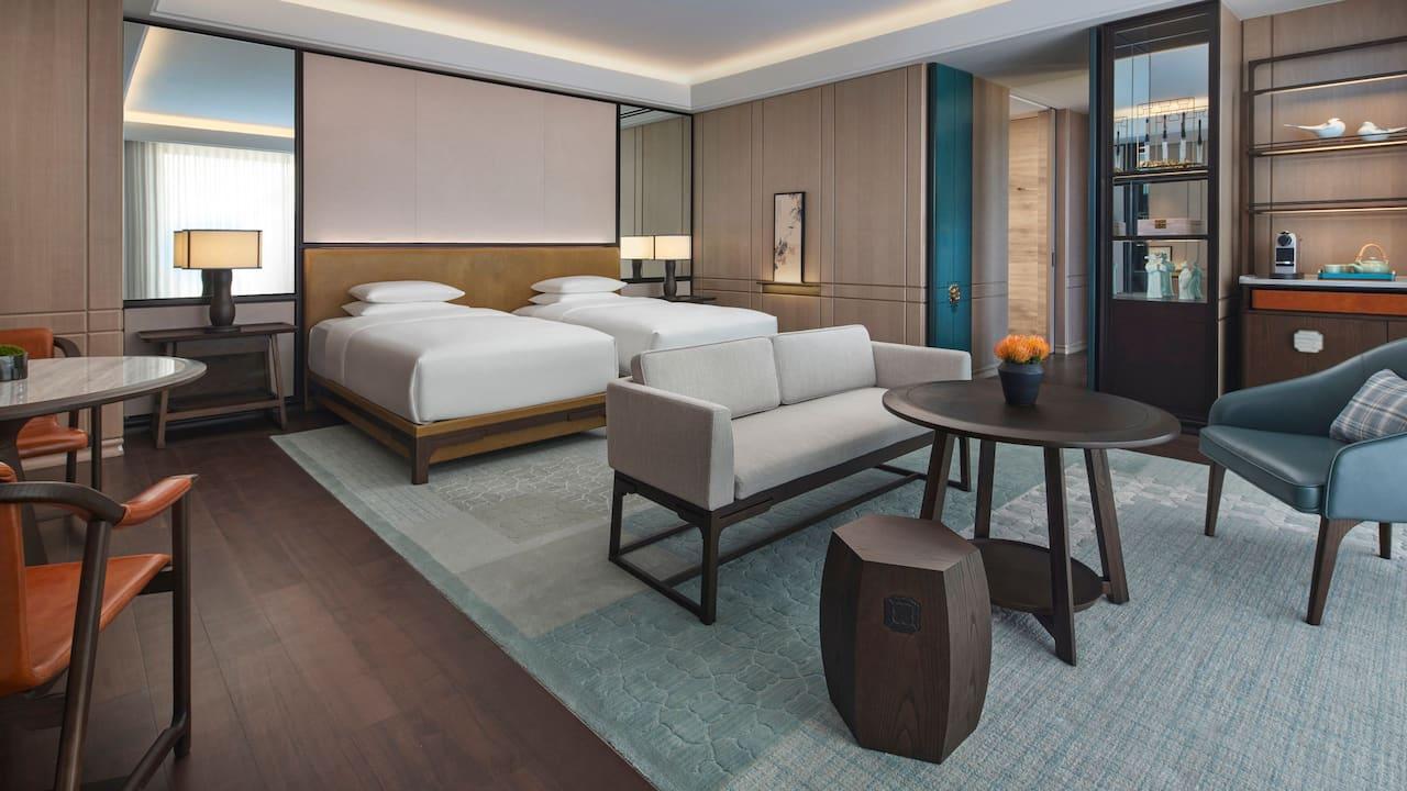2 Twin Deluxe Room at Park Hyatt Suzhou
