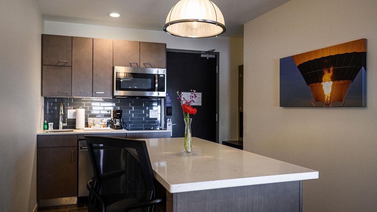 Hyatt House Studio Suite with Laptop