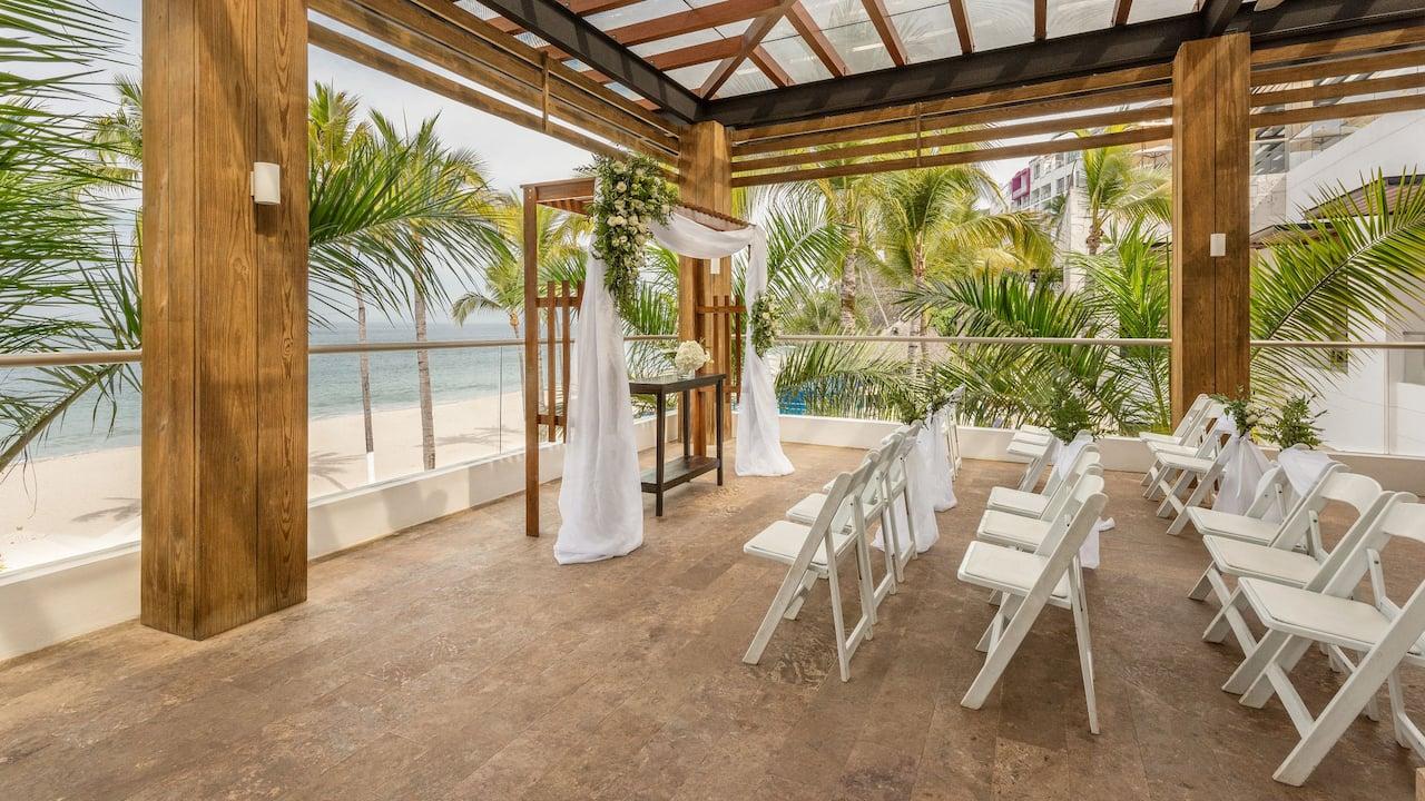 Hyatt Ziva Puerto Vallarta Terrace Wedding Ceremony