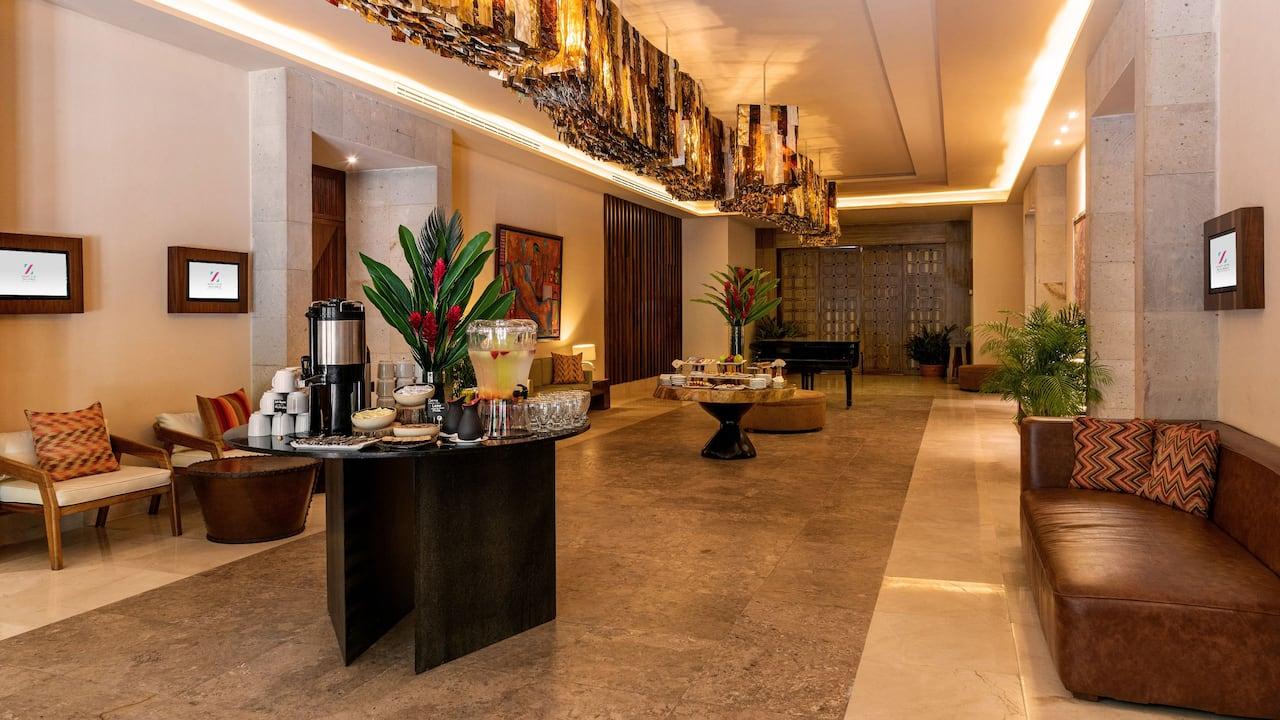 Hyatt Ziva Puerto Vallarta -  Foyer Arboleda Coffee Break Setup