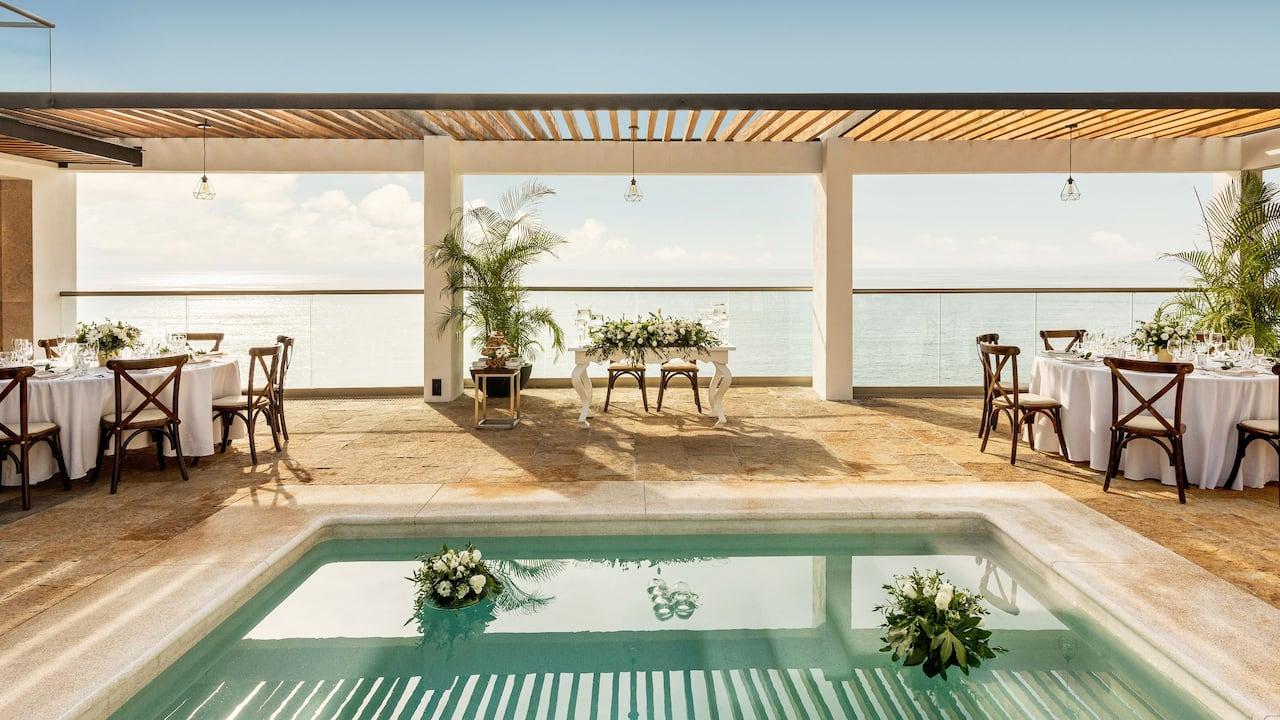 Hyatt Ziva Puerto Vallarta Pool Terrace Wedding