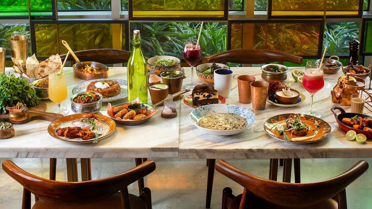 AnnaMaya Interior Food Spread