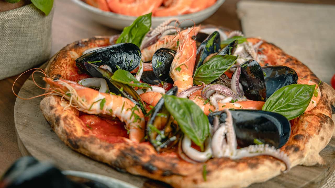 Seafood Pizza  at Grand Hyatt Erawan Bangkok