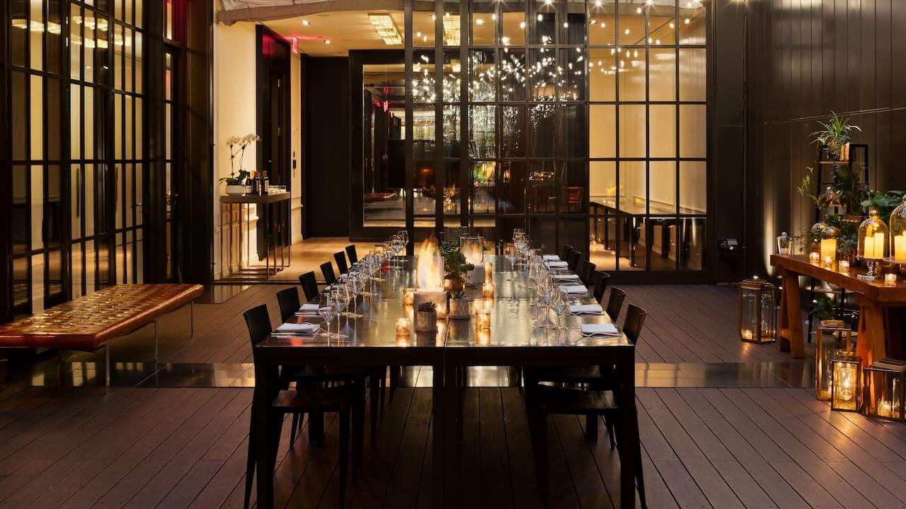 Courtyard Dinner Reception
