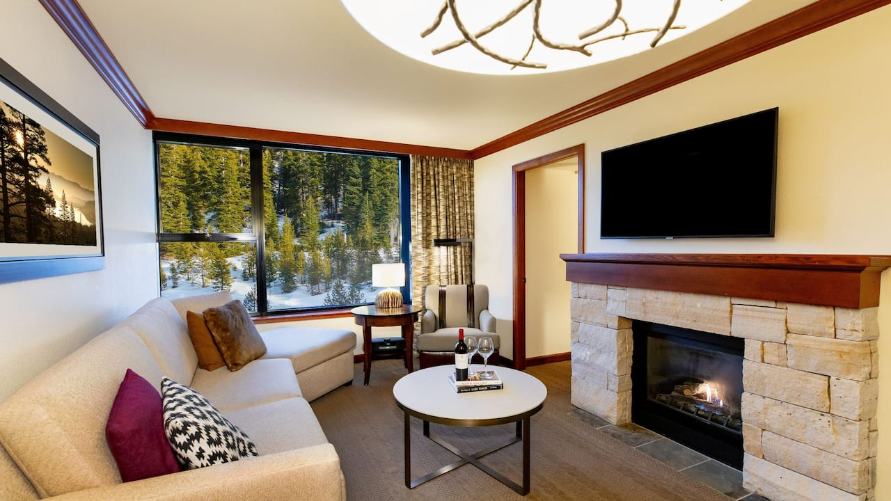 Fireplace Suite Forest View Living Area