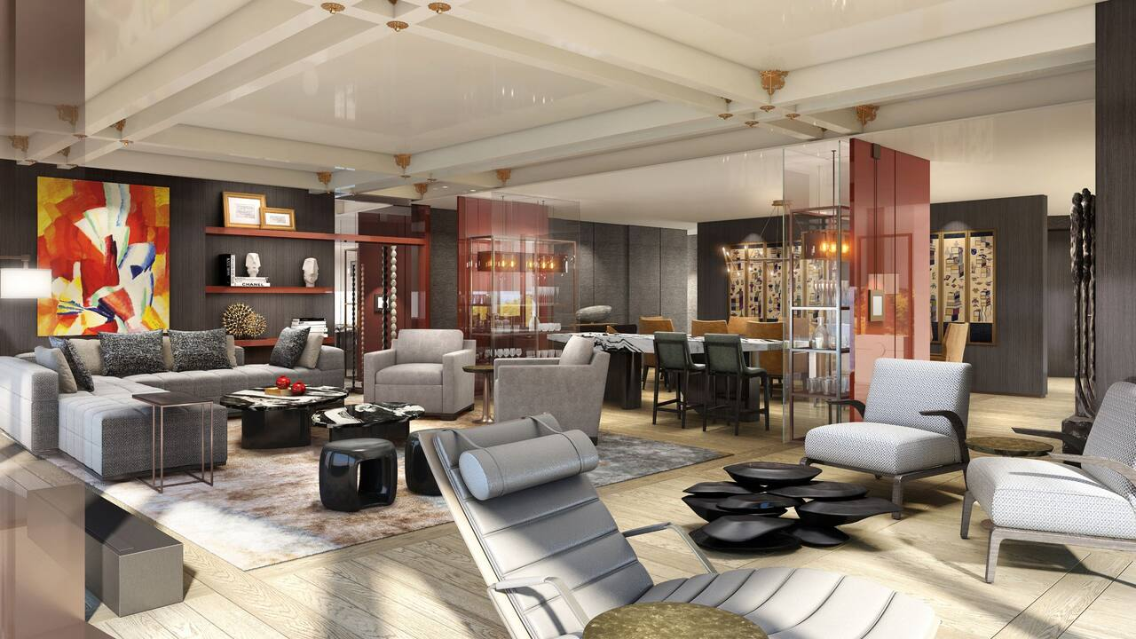 Presidential Suite Room Living Dining at Grand Hyatt Jeju