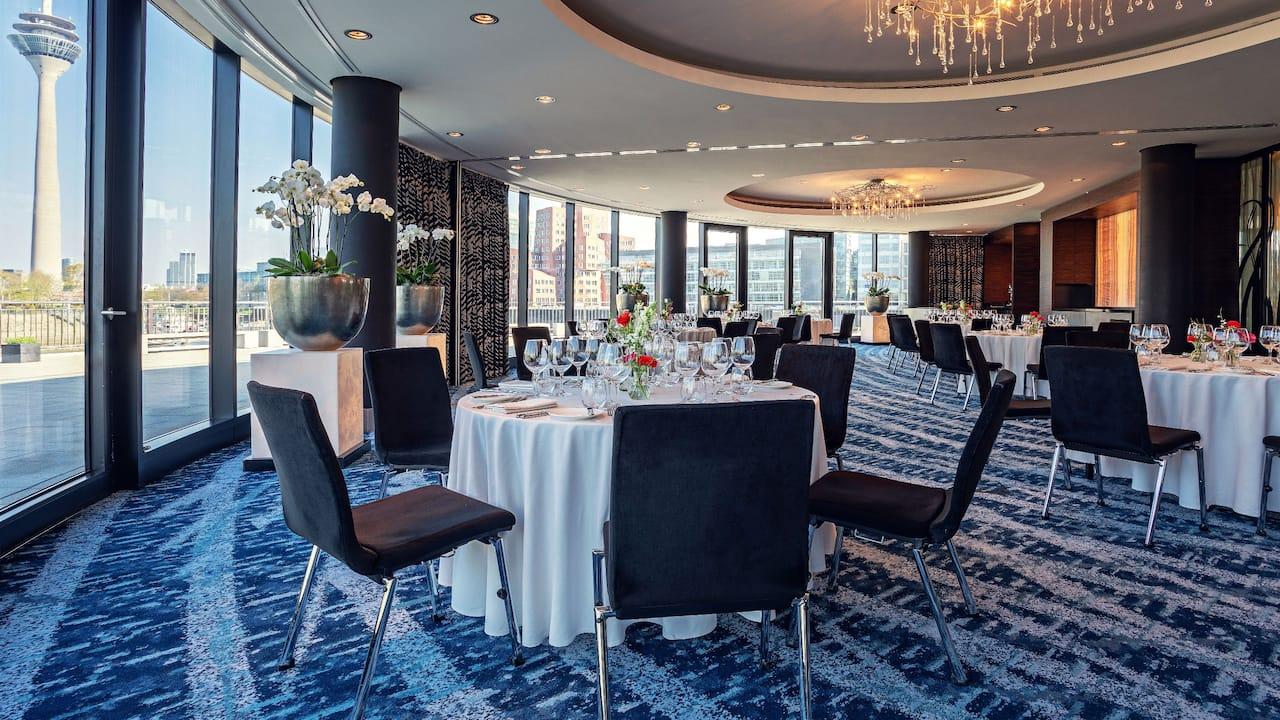 Event rooms with Rhine River Views at Hyatt Regency Dusseldorf