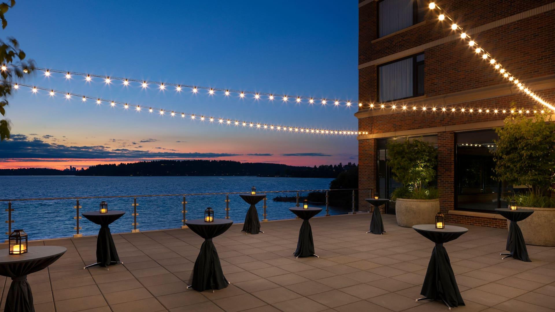 Reception on Mercer Terrace at Hyatt Regency Lake Washington