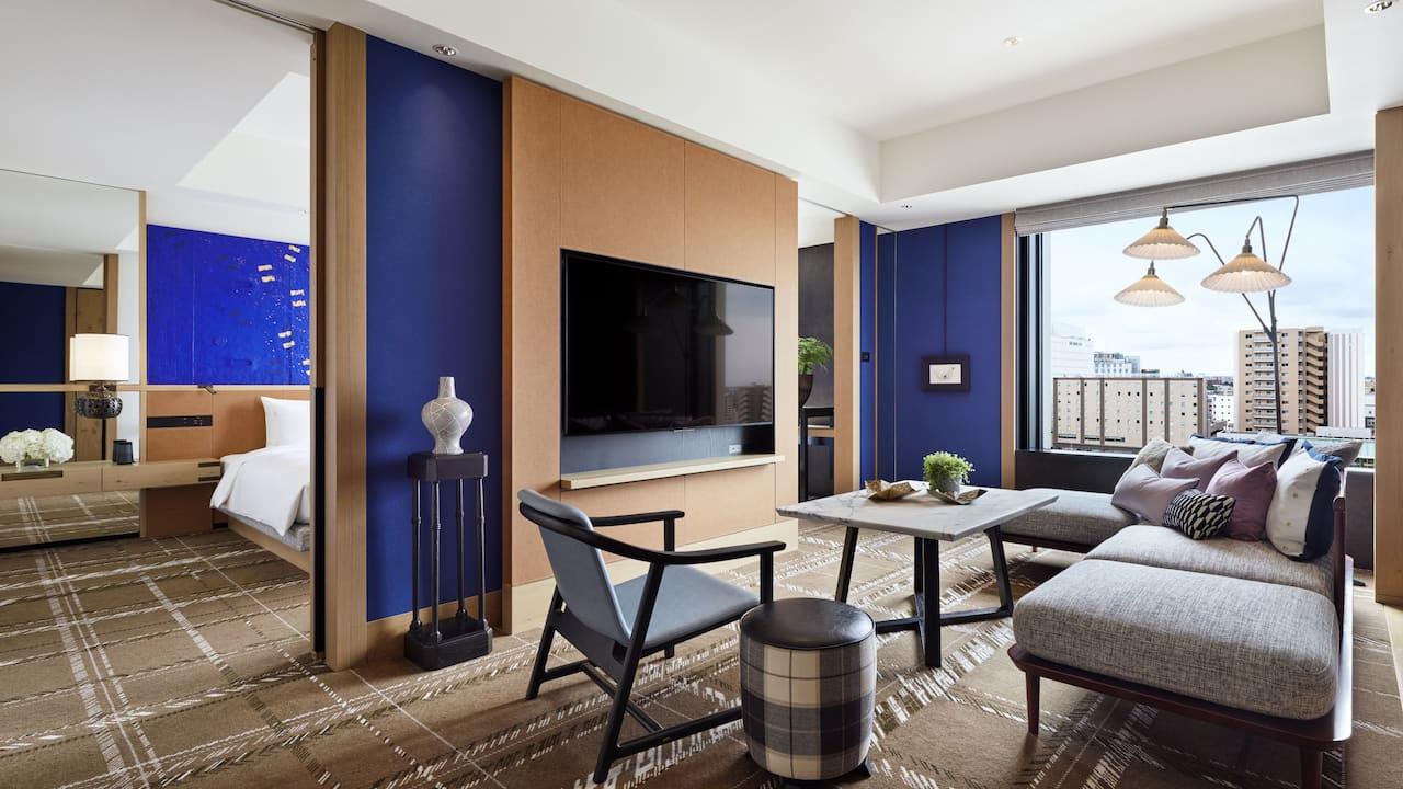 Suite Living Space Daytime at Hyatt Centric Kanazawa