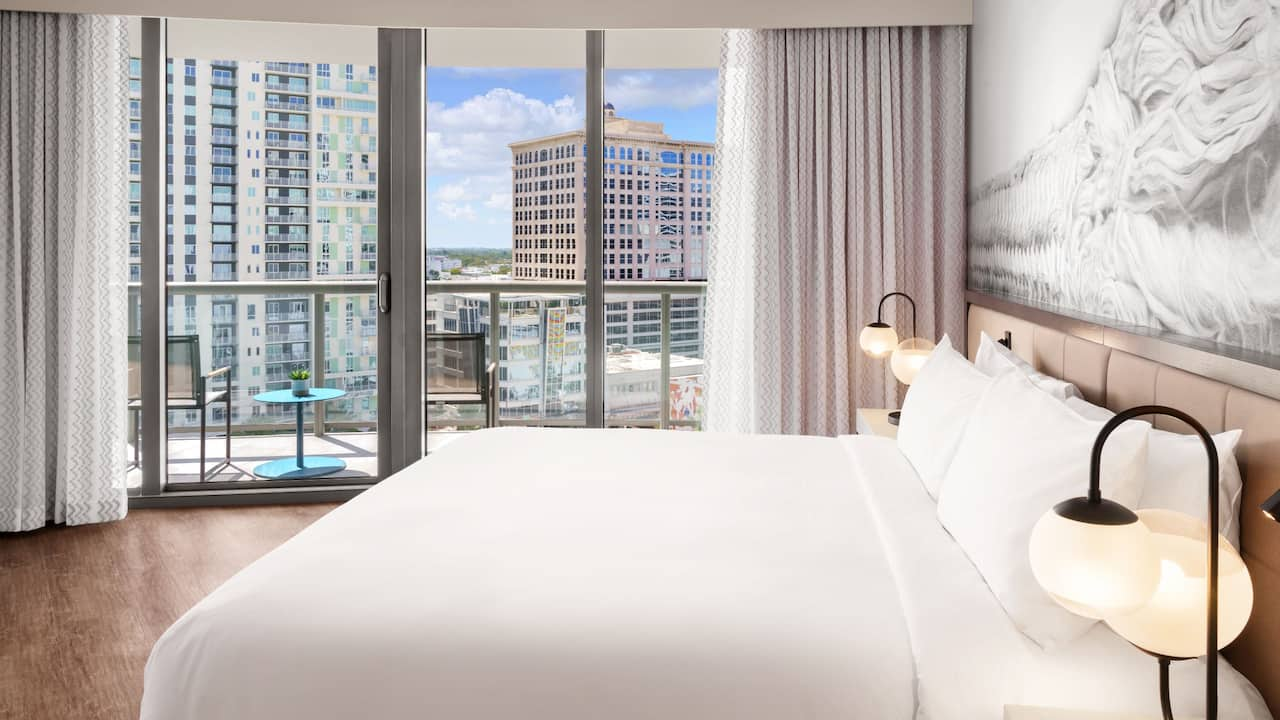 Hotel Guest Room with a View of Downtown Fort Lauderdale