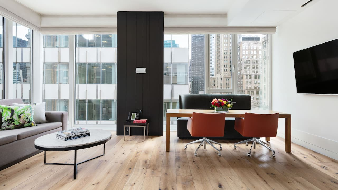 Luxury hotel suite in Midtown Manhattan in NYC